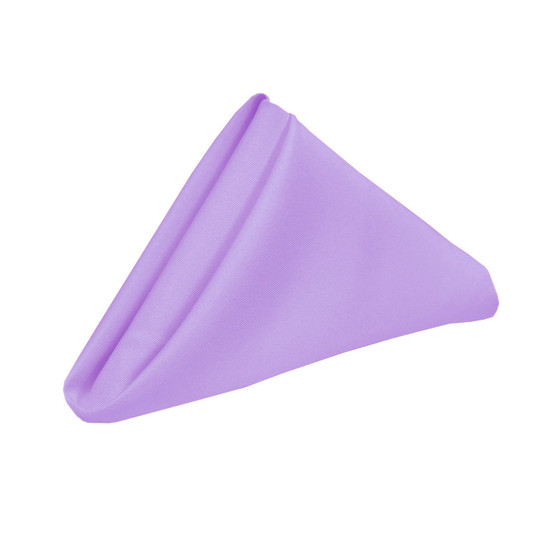 10 Pack 20 Inch Polyester Cloth Napkins Lavender