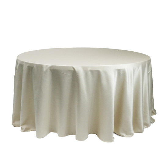 120 Inch Round L'amour Tablecloth Ivory