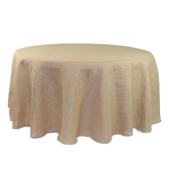 120 Inch Round Burlap Tablecloth
