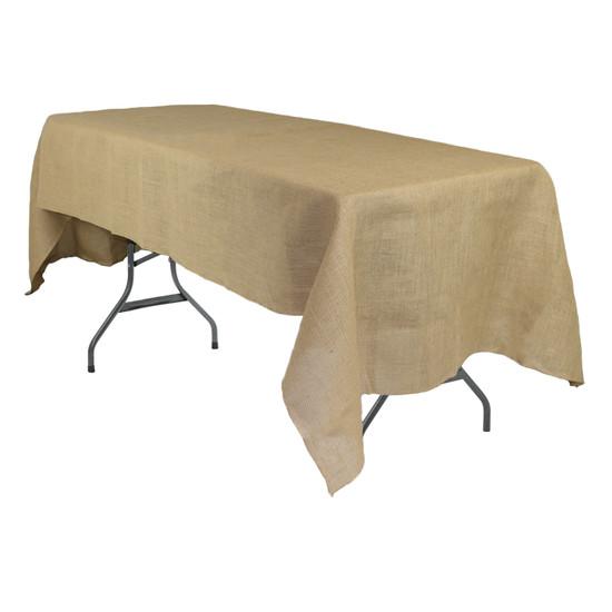 60 x 120 Inch Rectangular Burlap Tablecloth