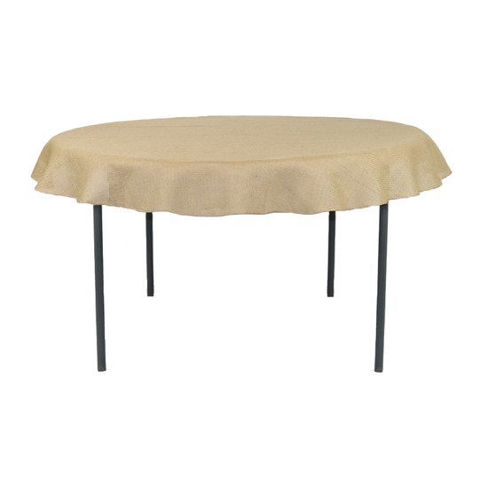 72 Inch Round Burlap Tablecloth