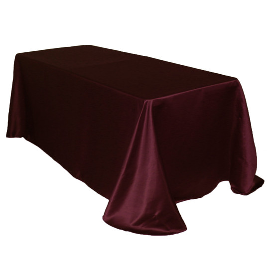 90 x 132 Inch Rectangular L'amour Tablecloth Burgundy