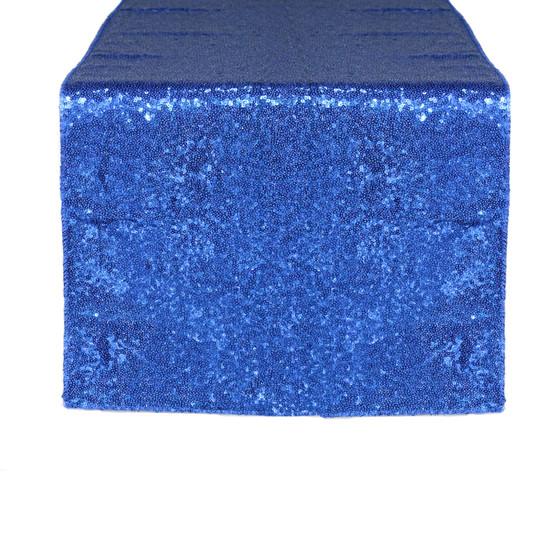 14 x 108 Inch Glitz Sequin Table Runner Royal Blue