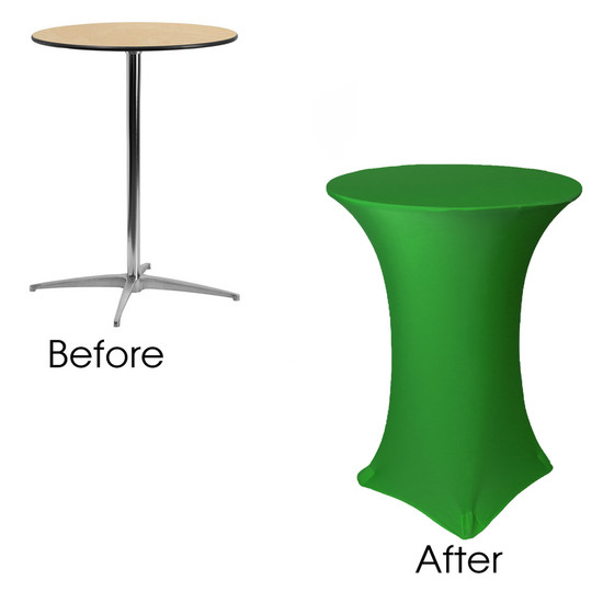 Emerald Green Cocktail Table Covers