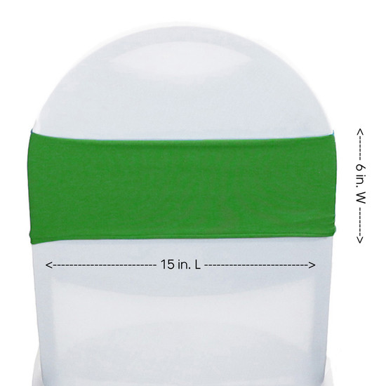 Spandex Chair Sashes Emerald Green measurements