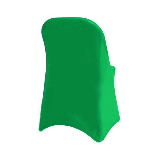 Stretch Spandex Folding Chair Cover Emerald Green For Hotels