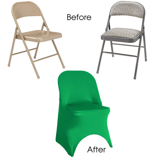Spandex folding chair covers emerald green
