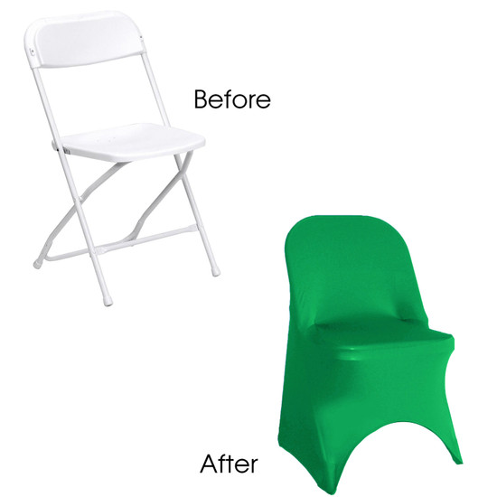 Spandex folding chair covers