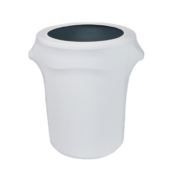 32 Gallon Spandex Trash Can/Waste Container Cover White