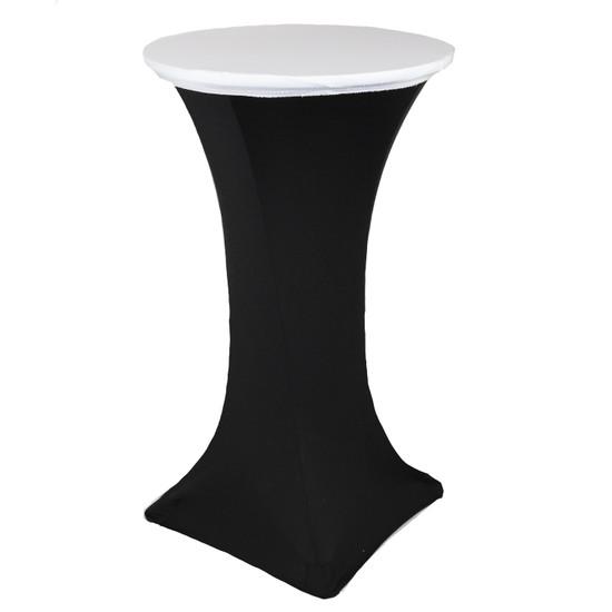 "24"" Stretch Spandex Table Topper/Cap White"