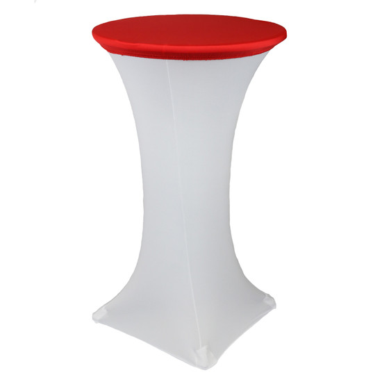 24 Inch Stretch Spandex Table Topper/Cap Red