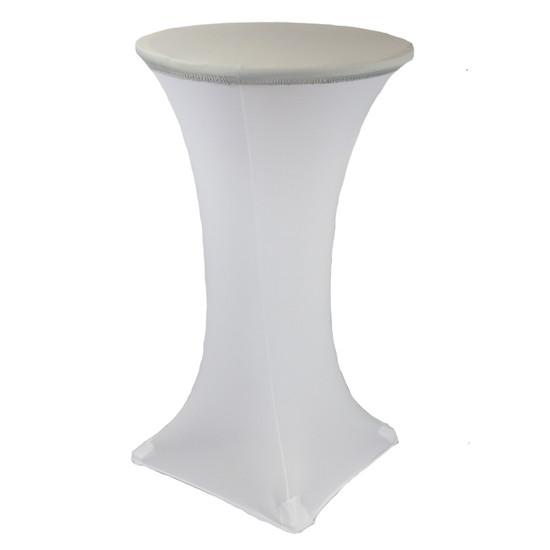 24 Inch Stretch Spandex Table Topper/Cap Silver