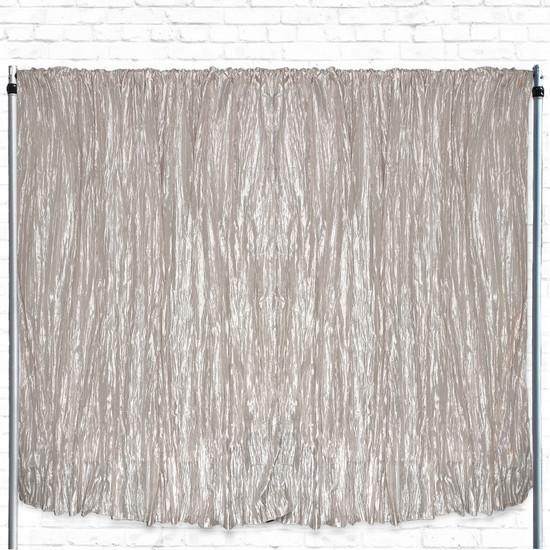 Crinkle Taffeta Drape/Backdrop 10 ft x 97 inches Ivory