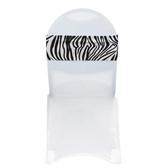 10 Pack Stretch Spandex Chair Bands Zebra
