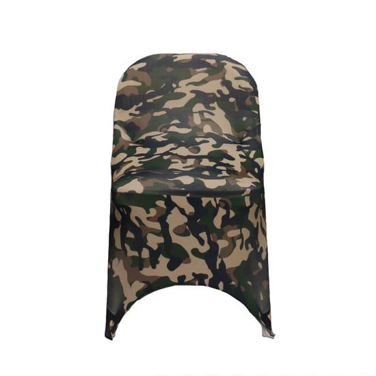 Stretch Spandex Folding Chair Covers Camo