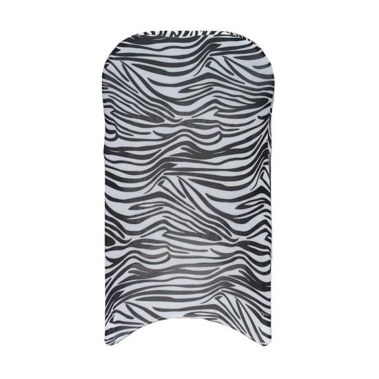 Stretch Spandex Folding Chair Covers Zebra back