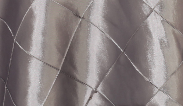 120 Inch Pintuck Taffeta Round Tablecloth Dark Silver / Platinum