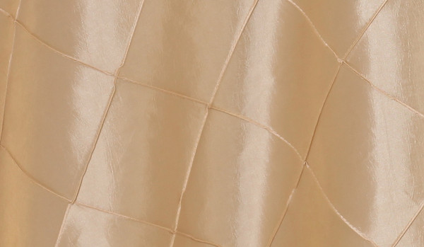 120 Inch Pintuck Taffeta Round Tablecloth Champagne