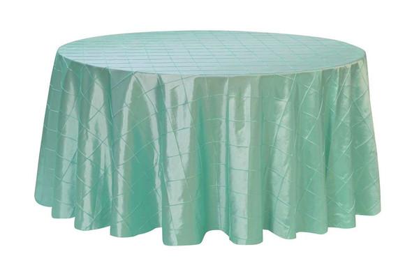 132 Inch Pintuck Taffeta Round Tablecloths Tiffany