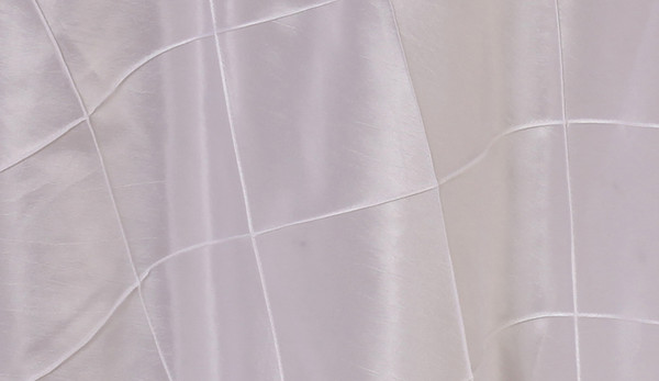 90 x 156 Inch Pintuck Taffeta Rectangular Tablecloth White