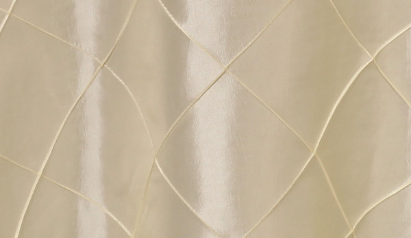 90 x 156 Inch Pintuck Taffeta Rectangular Tablecloth Ivory