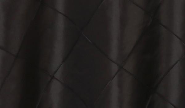 90 x 156 Inch Pintuck Taffeta Rectangular Tablecloth Black