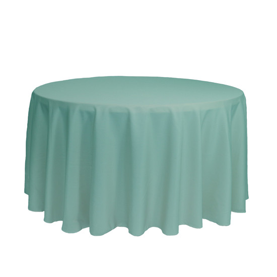 120 inch Round Polyester Tablecloths Tiffany