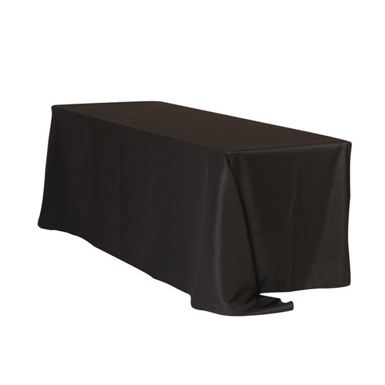 90 x 132 inch Rectangular Polyester Tablecloths Black
