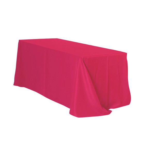 90 x 132 Inch Rectangular Polyester Tablecloth Fuchsia