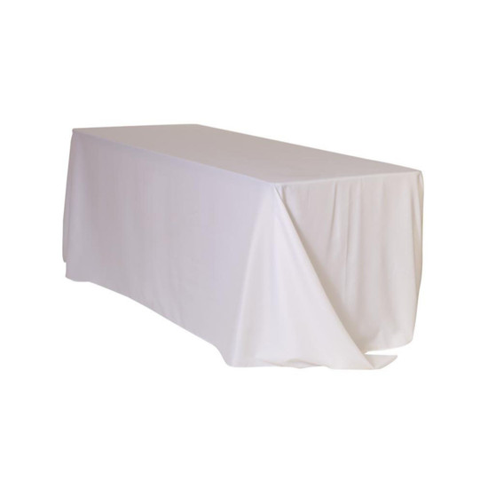 90 x 156 inch Rectangular Polyester Tablecloths White