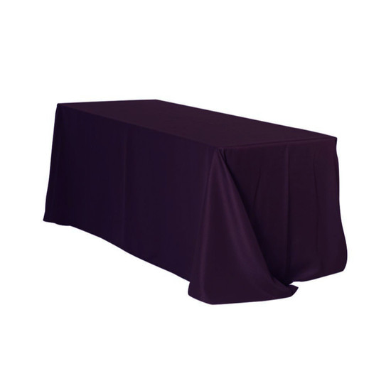90 x 156 Inch Rectangular Polyester Tablecloth Eggplant