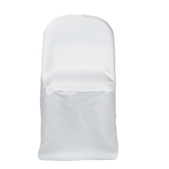 Polyester Folding Chair Covers White for weddings