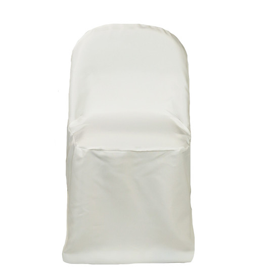 Polyester Folding Chair Covers Ivory for weddings