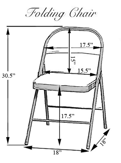 Folding Chair Dimensions