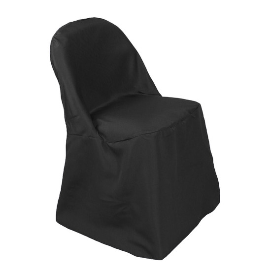 Polyester Folding Chair Covers Black