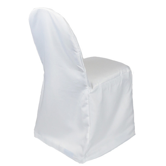 Polyester Banquet Chair Covers White for weddings