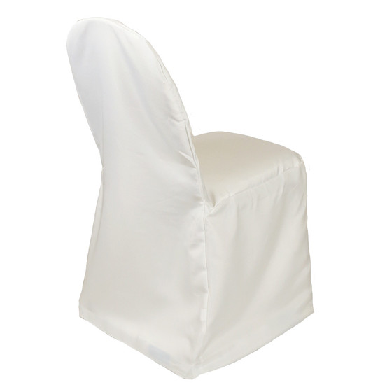 Polyester Banquet Chair Covers Ivory for weddings