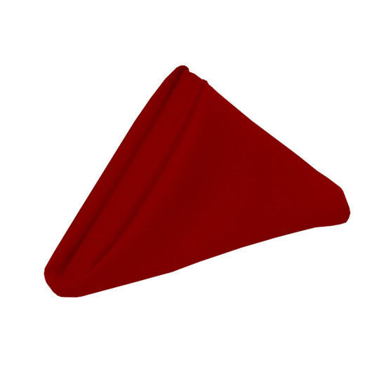 20 inch Polyester Cloth Napkins Dark Red
