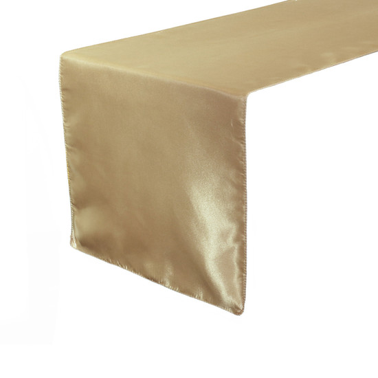 14 x 108 inch Satin Table Runners Champagne
