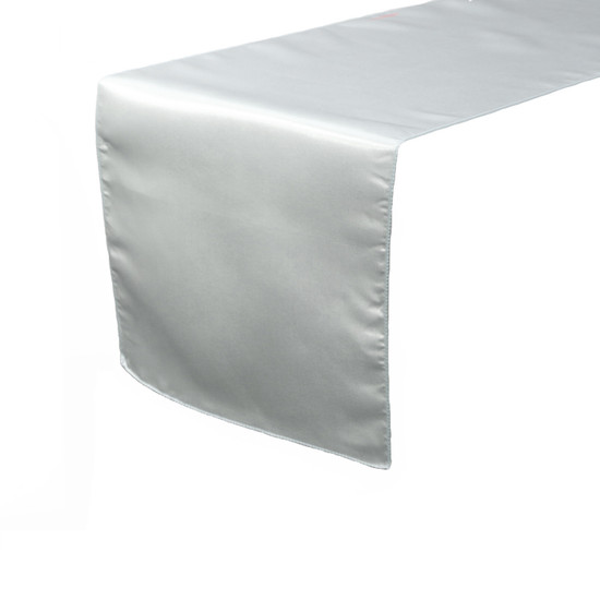 14 x 108 inch Satin Table Runners Silver