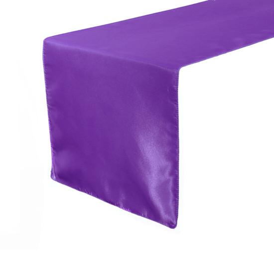 14 x 108 inch Satin Table Runners Purple