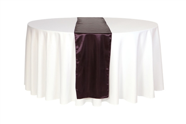 14 x 108 inch Satin Table Runners Eggplant
