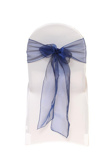 Organza Sashes Navy Blue