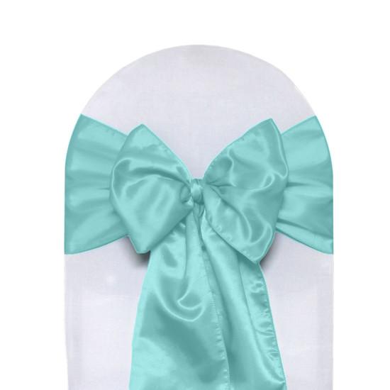 Satin Sashes Turquoise