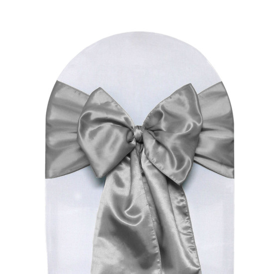 Satin Sashes dark silver