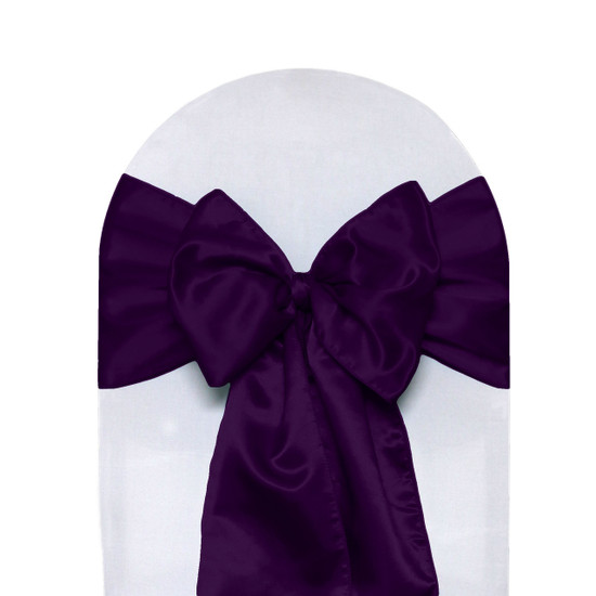 Satin Sashes Eggplant