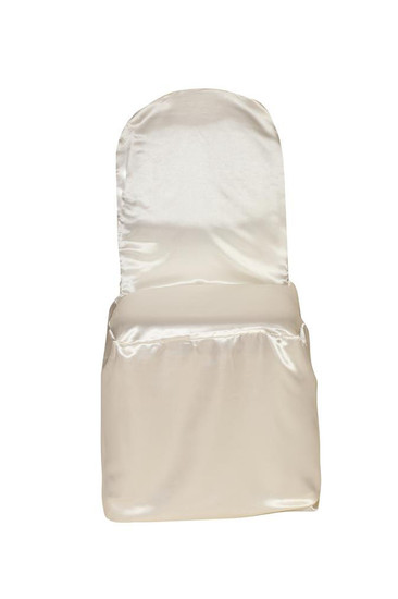 Satin Banquet Chair Covers Ivory For Weddings
