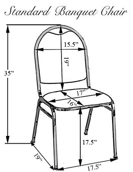 Satin Banquet Chair Covers | Banquet Chair Cover Sizing Chart