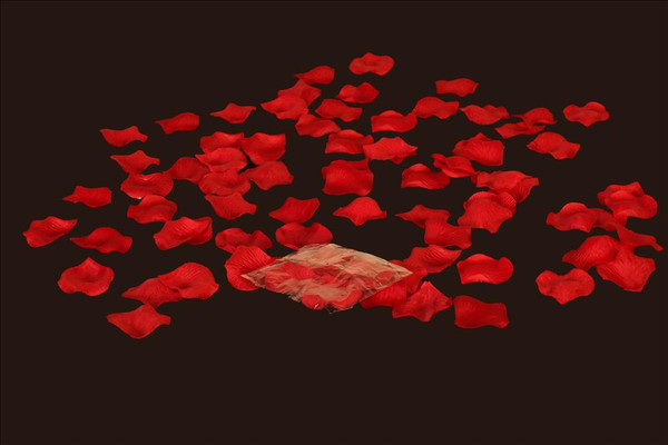 100 pcs Silk Rose Petals Red