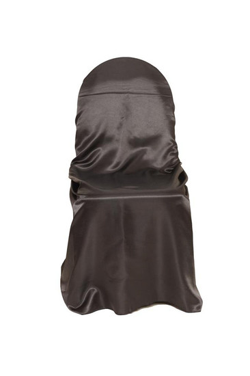 Wholesale Satin Self-Tie Universal Chair Covers Black